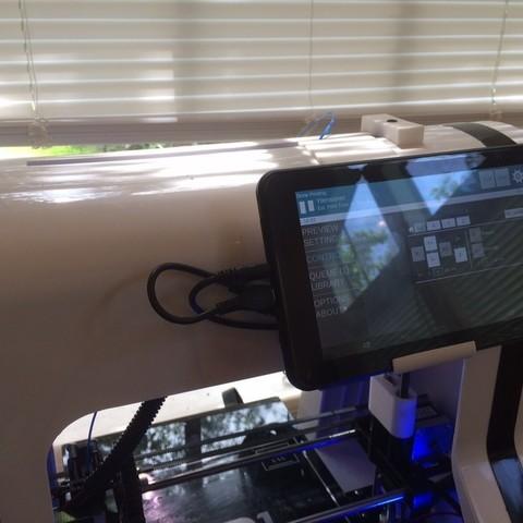 Download free STL file Robo 3D Matter Controller Holder/Bracket • 3D printable model, Pudedrik