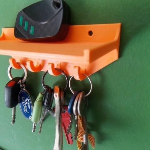 DSCN1259_display_large.JPG Download free STL file Key holder with shelf • 3D print design, Pudedrik