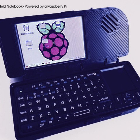 Free STL files Mini Hand-Held Notebook - Powered by a Raspberry Pi (Remix), Pudedrik