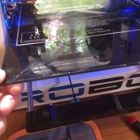 IMG_0747_display_large.JPG Download free STL file Robo 3D Y Axis Cable Tensioner • 3D printing object, Pudedrik
