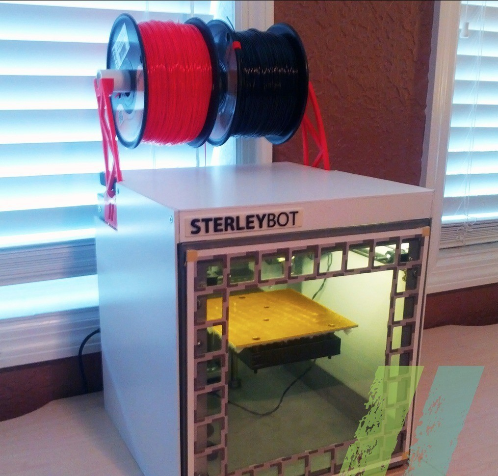 3345a9c58813c59241cc2200c7643e45_display_large.jpg Download free STL file Solidoodle Spool Holder Mk3 • 3D print model, Pudedrik