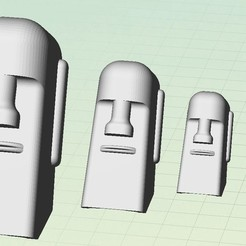 Download free 3D printing designs Mo' Moais!, Beardoric