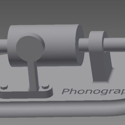Phonograph_display_large.jpg Download free STL file Edison's First Phonograph • Template to 3D print, Beardoric