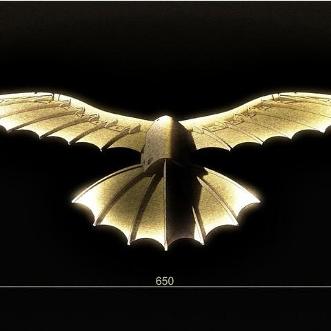 Download free 3D print files DaVinci's flying kite, Beardoric