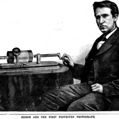Edison_and_the_first_Perfected_Phonograph_display_large.jpg Download free STL file Edison's First Phonograph • Template to 3D print, Beardoric