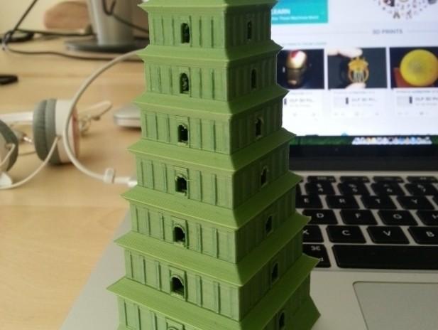 8142_0_display_large.jpg Download free STL file Giant Wild Goose Pagoda in Xi-an China • 3D printer template, Balkhubal