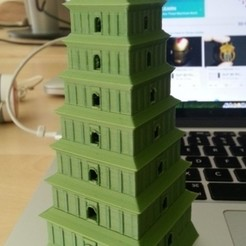 Download free 3D printing designs Giant Wild Goose Pagoda in Xi-an China, Balkhubal