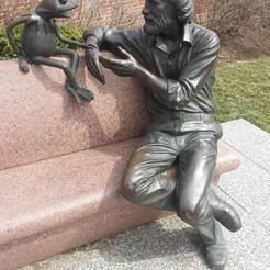 Free 3D printer designs Jim Henson & Kermit Statue - University of Maryland, Balkhubal