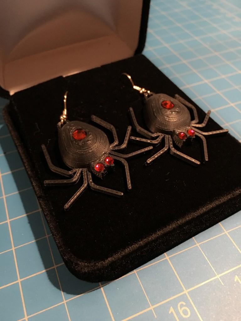 36b6174901d167368e24dfcb61f43cad_display_large.jpg Download free STL file Spider Set - Earrings (5mm body gem and 3mm eyes) • Model to 3D print, Balkhubal