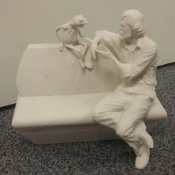Free 3D print files UMD Jim Henson and Kermit Statue, Balkhubal