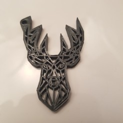 Free 3D model Original deer head key ring, Kestix