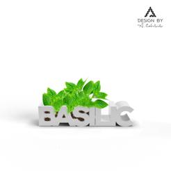 Basilic plante.png Télécharger fichier STL Jardinière Basilic • Plan imprimable en 3D, Lahbib