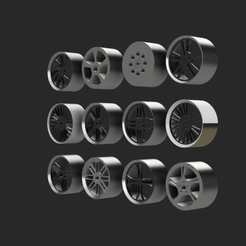 Download free 3D printing designs Wheel rim package, Lahbib