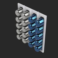 Imprimir en 3D gratis Portavelas 20 cápsulas Nespresso, Lahbib