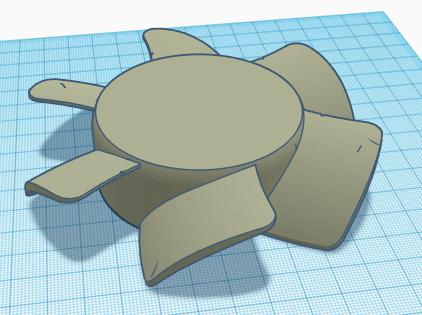 Blades.PNG Télécharger fichier STL Corps et pales du ventilateur • Modèle pour imprimante 3D, KingCAD