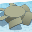 Download free 3D printing designs Fan Body and Blades, KingCAD