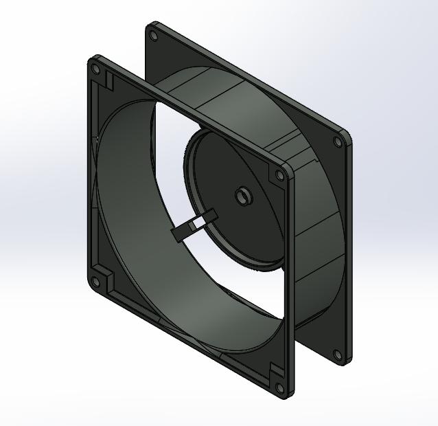 Body.PNG Télécharger fichier STL Corps et pales du ventilateur • Modèle pour imprimante 3D, KingCAD