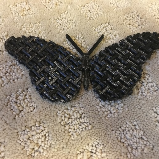 IMG_1568.JPG Download free STL file Articulated Chain Mail Butterfly (Remix) • 3D print object, tylerebowers