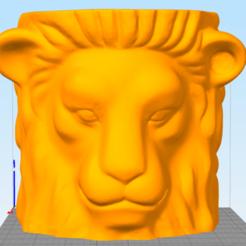 Télécharger fichier impression 3D Lion ( vase, cadeau, jardin...), oguzkurt16