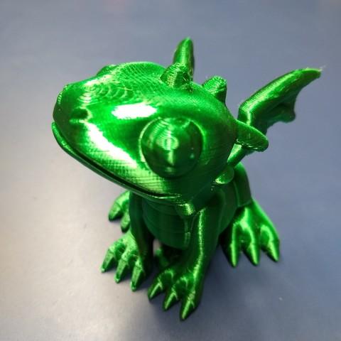Download free 3D printing models cute dragon, cah027