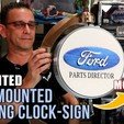 Download 3D print files Wall-Mounted | Rotating Clock/Sign | MOTORIZED, toddsworld