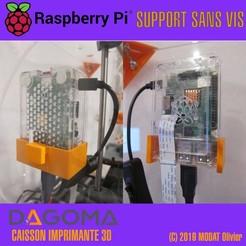 Descargar Modelos 3D para imprimir gratis Soporte para caja de frambuesa Pi 3+ Dagoma, oliviermodat