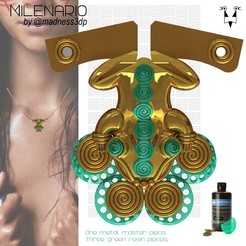 Milenario_Mesa de trabajo 1.jpg Download free STL file Rana.    MILENARIO • 3D printing template, DiegoRPenuela