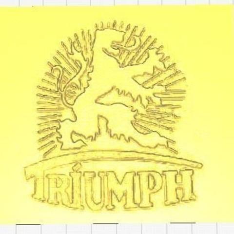 Triumph Logo Cura.JPG Télécharger fichier STL gratuit Triumph Werke Nürnberg Logo (Triomphe allemand) • Objet pour impression 3D, SCI