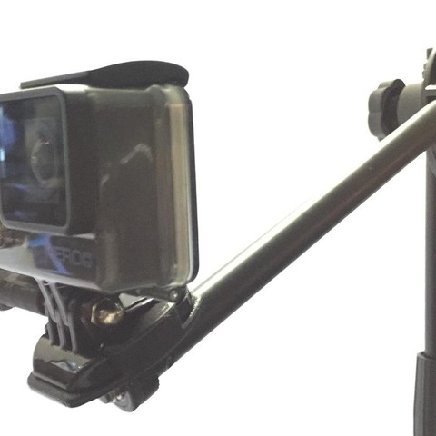 STL file GoPro Flat Mount for 10mm Microphone Stand, SCI