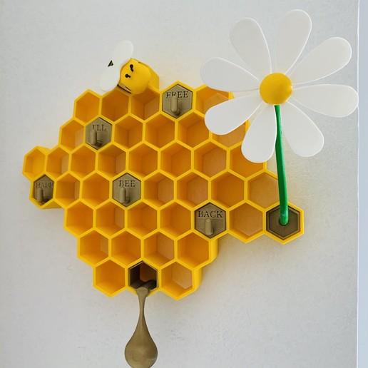 Télécharger plan imprimante 3D Support de clés Bee Keys , julien-roinard