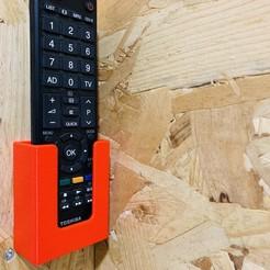 Descargar STL gratis Soporte de pared de control remoto, julien-roinard