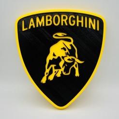 IMG_9835.JPG Télécharger fichier STL gratuit Logo Lamborghini • Objet pour imprimante 3D, julien-roinard