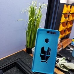Download STL file Huawei Honor 8 IronMan Case, Fekkopsky