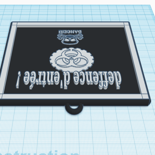 3D design Exquisite Kup-Stantia _ Tinkercad - Google Chrome 13_04_2020 14_32_11.png Télécharger fichier STL gratuit danger panneau • Plan pour imprimante 3D, billy-and-co