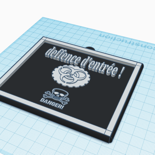 3D design Exquisite Kup-Stantia _ Tinkercad - Google Chrome 13_04_2020 14_32_26.png Télécharger fichier STL gratuit danger panneau • Plan pour imprimante 3D, billy-and-co