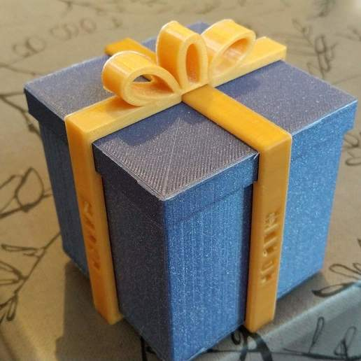 Download free 3D printing designs Gift box, lbopok