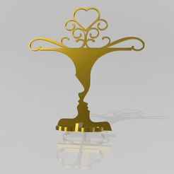 porte bijoux couple amoureux 3DFG cults3d_1_3.JPG Download 3MF file Couple Lovers Jewelry Holder 3DFG • 3D printable model, 3dfgbzh