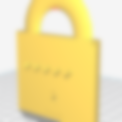 Download free 3D printing models padlock-shaped key hanger, pumuky