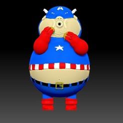 """Télécharger fichier impression 3D Capitaine """"Fat"""" America, AsDfog"""