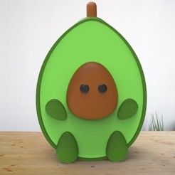 AguacaticoKiut1.jpg Download STL file Avocado Kiut - Aguacatico Kiut • Design to 3D print, AsDfog