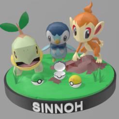 Télécharger fichier STL STARTER POKEMON SINNOH - INITIAL POKEMONES SINNOH • Design pour impression 3D, AsDfog