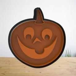Calabaza1.jpg Download STL file Halloween Cookies Cuts - Halloween Cookie Cutters - Pack 1 • Model to 3D print, AsDfog