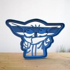 Descargar diseños 3D Baby Yoda Cookie Cut - Baby Yoda Cortante de galletas, AsDfog