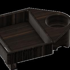 Bandeja_2.png Télécharger fichier STL gratuit Bandeja Cine 2 - Porte-boisson • Design à imprimer en 3D, AsDfog