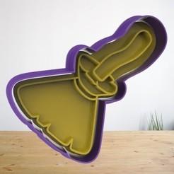 Escoba1.jpg Télécharger fichier STL Coupe-biscuits d'Halloween - Coupe-biscuits d'Halloween - Pack 2 • Objet pour imprimante 3D, AsDfog