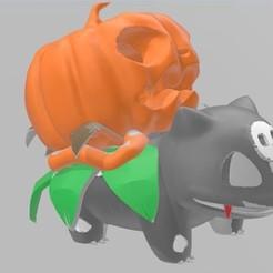 Download STL file Bulbasaur Pumpkin Dark, AsDfog