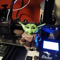 Descargar diseños 3D gratis Baby Yoda, AsDfog