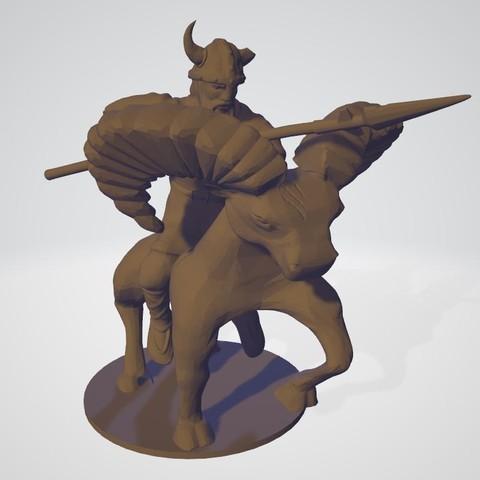 3D print model Barbaro Encabronado, KengdallFolmer