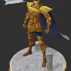 Download 3D printer designs Saint Seiya - Aiolia Golden Knight of Leo, 3dactive