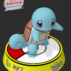 Download free 3D printer templates Pokemon Squiertle, 3dactive